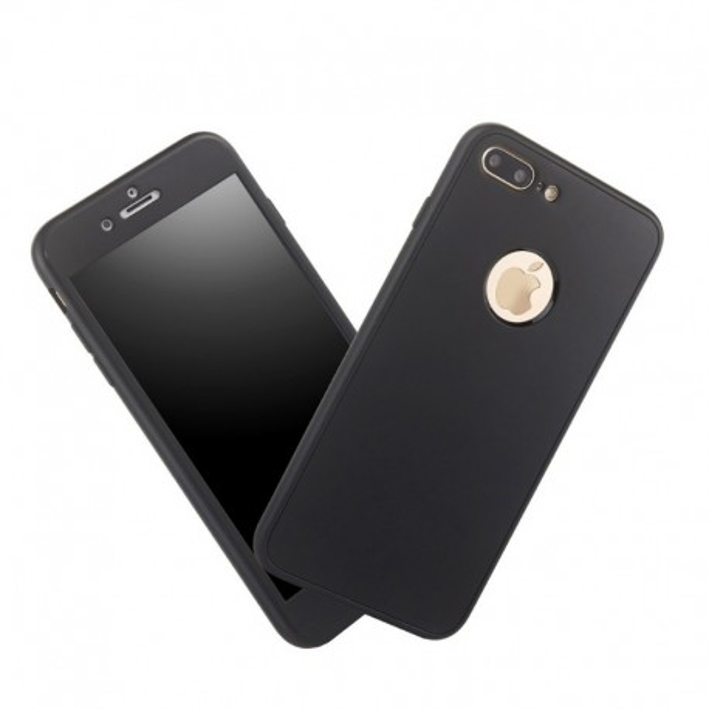 Coque Intégrale 360 (Verre trempé) iPhone 7 Plus 8 Plus Noir