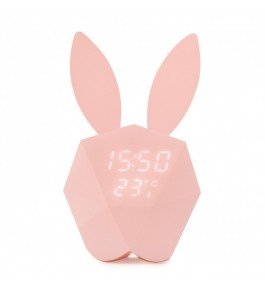 Horloge Connectée Cutty Clock Rose Pastel