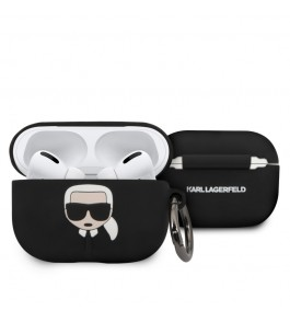 Etui Silicone Noir Airpods Pro Karl Lagerfeld